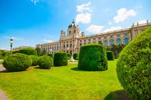 Fine Arts Museum At Maria Theresa Square In Vienna, Austria