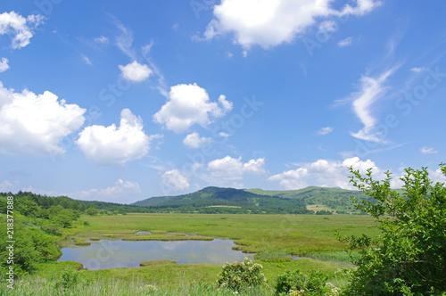 Foto auf AluDibond Karibik 夏の八島湿原