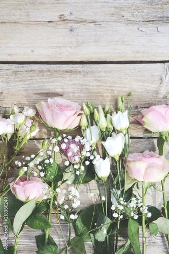 Grusskarte Blumenstrauss Vintage Rosen Rosa Buy This Stock Photo