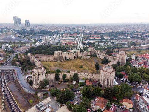 Foto op Aluminium Aerial Drone View of Yedikule Fortress in Istanbul / Turkey
