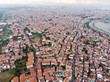 Aerial Drone View of Unplanned Urbanization Istanbul City with Apartment Buildings Yenikapi Samatya in Turkey.