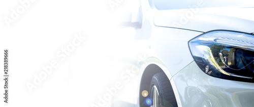 Foto Modern white car