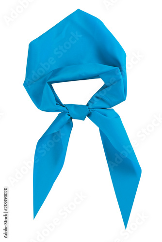 Scout tie isolated on white background. Blue color. Fototapet
