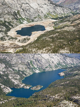Low Water Level And Full Reservoir Photos