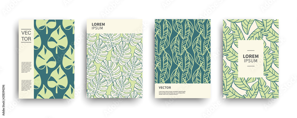 Fototapeta Tropic nature exotic covers set