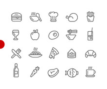 Food Icons - Set 1 Of 2 // Red...