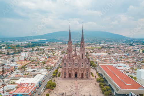 Cathedral of Our Lady of Guadalupe in Zamora, Michoacan, Mexico