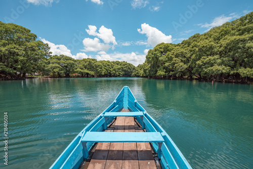 Boat at the Camecuaro Lake National Park in Michoacan, Mexico