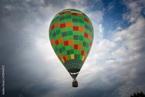coloful hot air balloon flying in sky