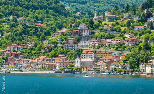 Argegno, idyllic village on Lake Como, Lombardy, Italy. Canvas Print