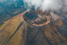 Amazing View Of The Crater Of The Paricutin Volcano In Michoacan, Mexico
