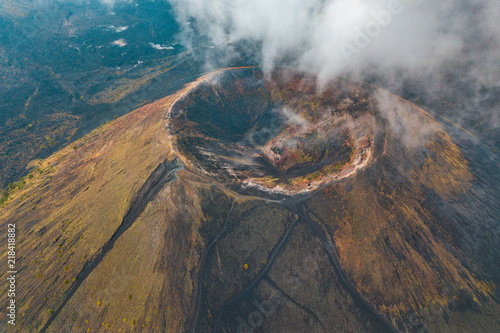 Fotografiet Amazing view of the crater of the Paricutin Volcano in Michoacan, Mexico
