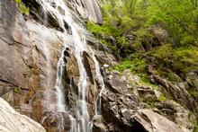 Hickory Nut Falls At Chimney Rock State Park, North Carolina
