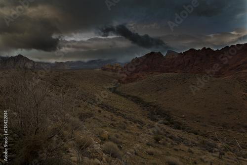 Tuinposter Grijze traf. Cloudy Desert
