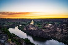 Sunset Over The Snake River Va...