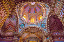 Stunning And Colorful Dome Of San Diego Temple In Morelia, Michoacan, Mexico