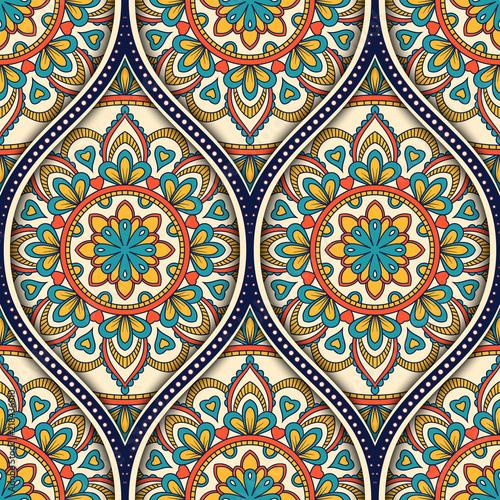 Tapety Orientalne  wzor-z-ornamentem-etnicznej-mandali-recznie-rysowane-ilustracji-wektorowych