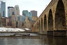 Arch Bridge In Minneapolis