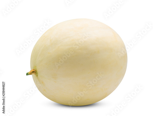 whole honeydew melon(sunlady) isolated on white background