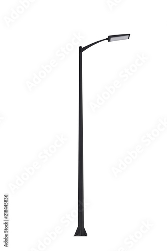 Street light pole isolated on a white background. Wall mural