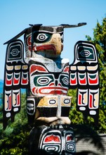 Eagle Totem Pole Close Up In N...