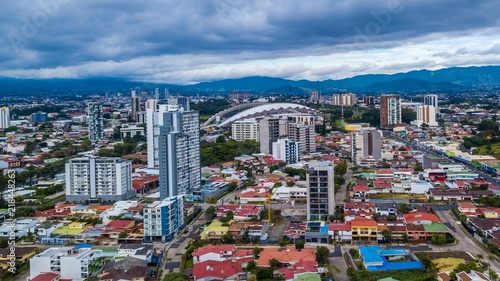 Photo  Beautiful aerial view of Costa Ricas San Jose city
