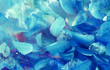 Abstract blue textural background - close-up fragment oil painting. Large brush strokes. For a screensaver or wallpaper