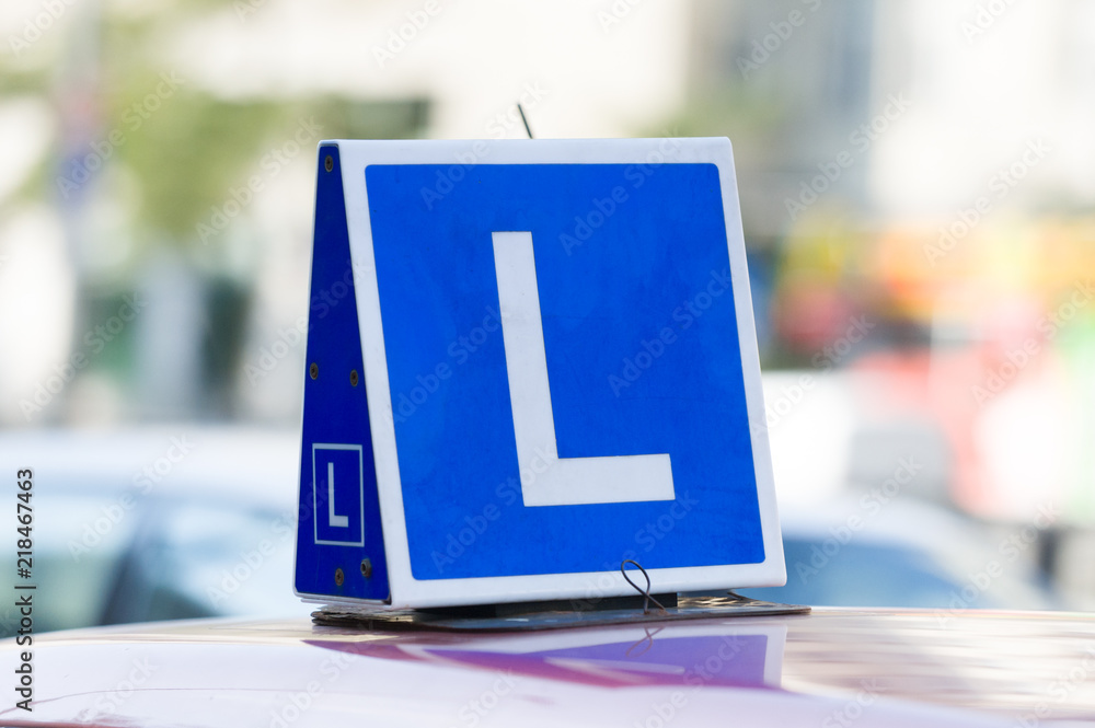 Obraz  nauki jazdy fototapeta, plakat