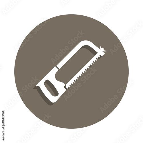 Fotografie, Obraz  hacksaw icon in badge style