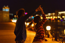 Dance On The Embankment Of Moscow River At The Evening