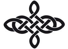 Celtic Knot Silhouette Walltat...