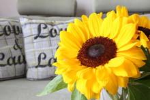 Żółty Słonecznik Ozdoby - Kwiat Do Dekoracji Wnętrz