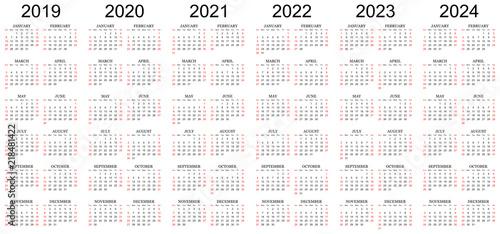 six year calendar
