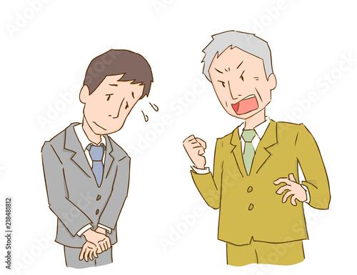 Fotografie, Obraz  説教 叱責 会社員 男性 二人