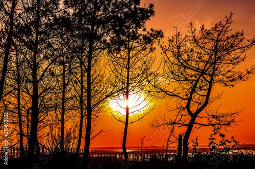 Cadres-photo bureau Brique coucher de soleil