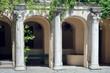 An ancient building with an arcade. Tauric Chersonesos. Crimea. Sevastopol