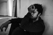 Men Addicted With Severe Depression