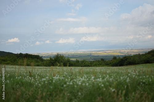 Foto op Canvas Blauwe hemel landscape