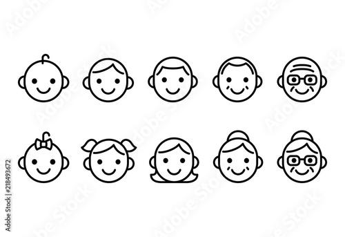 Fotografía  People ages icons