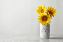 Vase With Beautiful Yellow Sun...