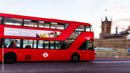 The Red Busses of London фототапет