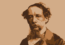 Dickens - Portrait - Personnage - Célèbre - écrivain - Historique - Romancier - Britannique - Anglais