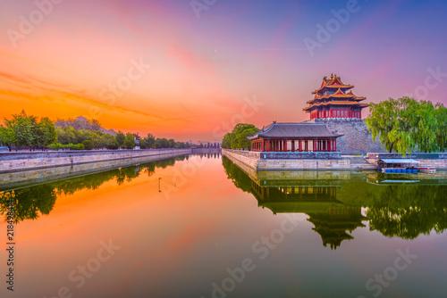 Foto op Aluminium Beijing Beijing, China Forbidden City Moat