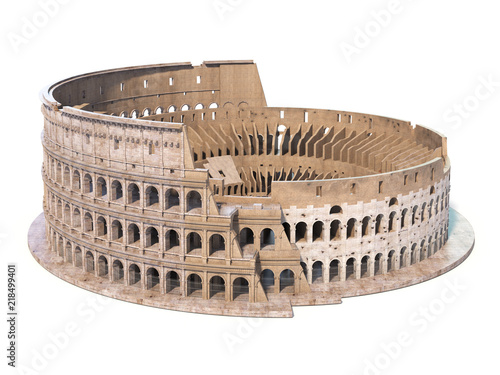 Carta da parati Colosseum, Coliseum isolated on white. Symbol of Rome and Italy,