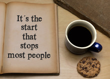 It´s The Start That Stops Mos...