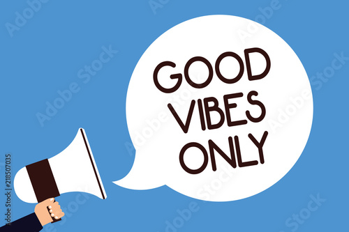 Fotografia  Writing note showing Good Vibes Only