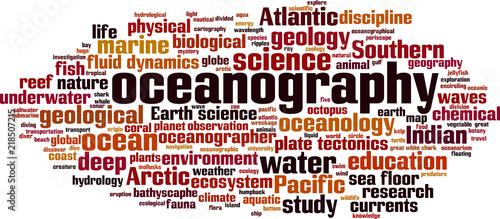 Fotografia, Obraz Oceanography word cloud