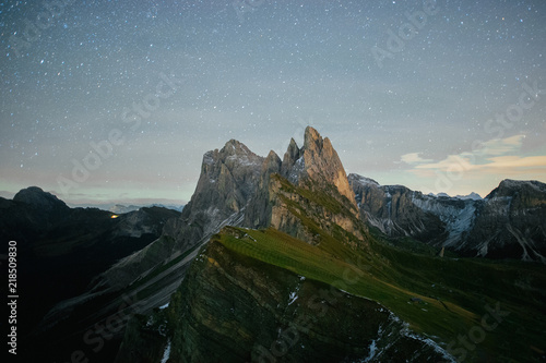 Foto op Aluminium Zwart Beautiful view of famous Tre Cime di Lavaredo mountains in the Dolomites mountain