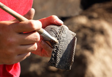 The Find In The Archaeological Excavation Is A Piece Of An Ancient Earthen Vessel