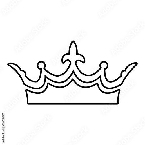 Photo Medieval crown icon